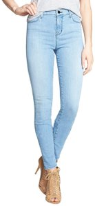 J Brand High Rise Stretch Denim High Waisted Skinny Jeans-Light Wash