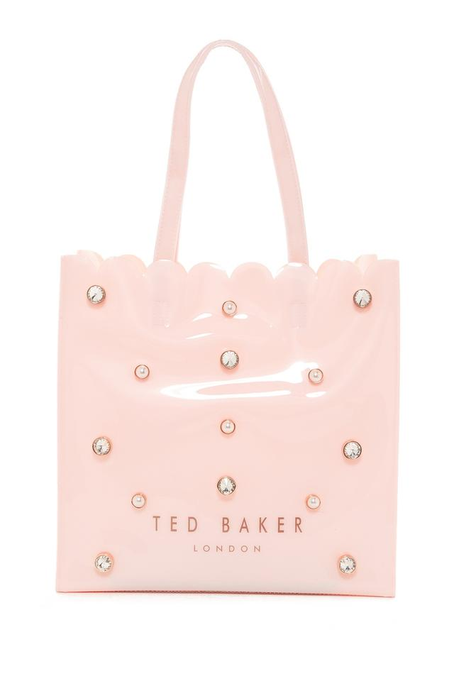 bd9933b59a25b Ted Baker London Jesicon Crystal   Pearl Large Icon Pink Pvc Tote ...