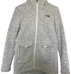 The North Face vintage white heather Jacket