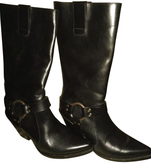 Item - Black Kim Kardashian West's Auction Knee High Buckle Boots/Booties Size EU 38 (Approx. US 8) Regular (M, B)