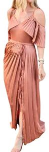 Muted Rose Gold Maxi Dress by Banana Republic Olivia Palermo Palermo Palermo Maxi Open Shoulder Maxi Olivia Maxi