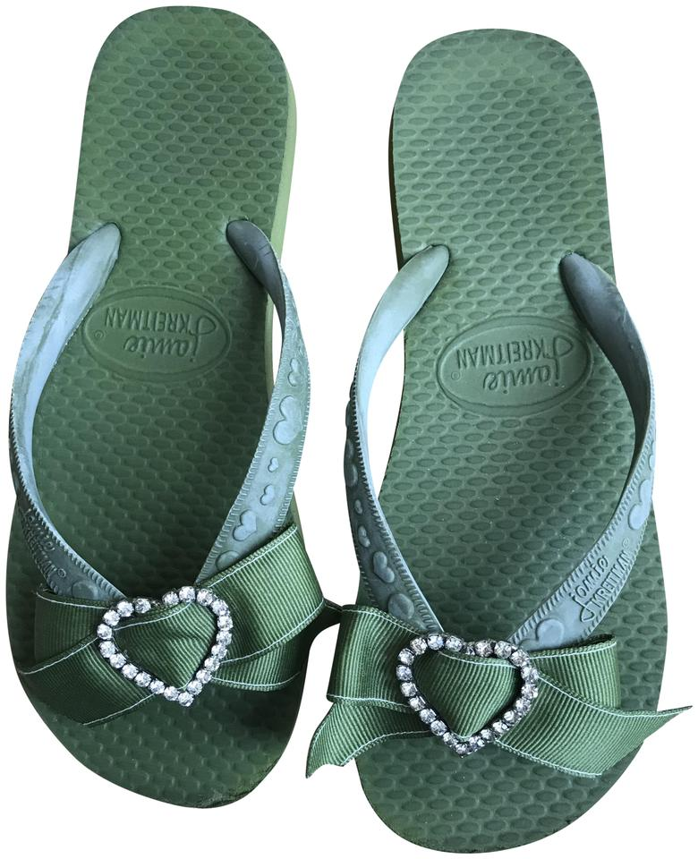 7f7dd34378b8a7 ... Jamie Kreitman Rubber Flip Flops Army Green Sandals ... later 4b422  67f72 ...