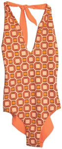Tory Burch NWT Tory Burch Biarritz Reversible Octagon Square One-Piece Swimsuit S