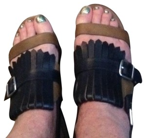 Marni Black and tan leather Sandals