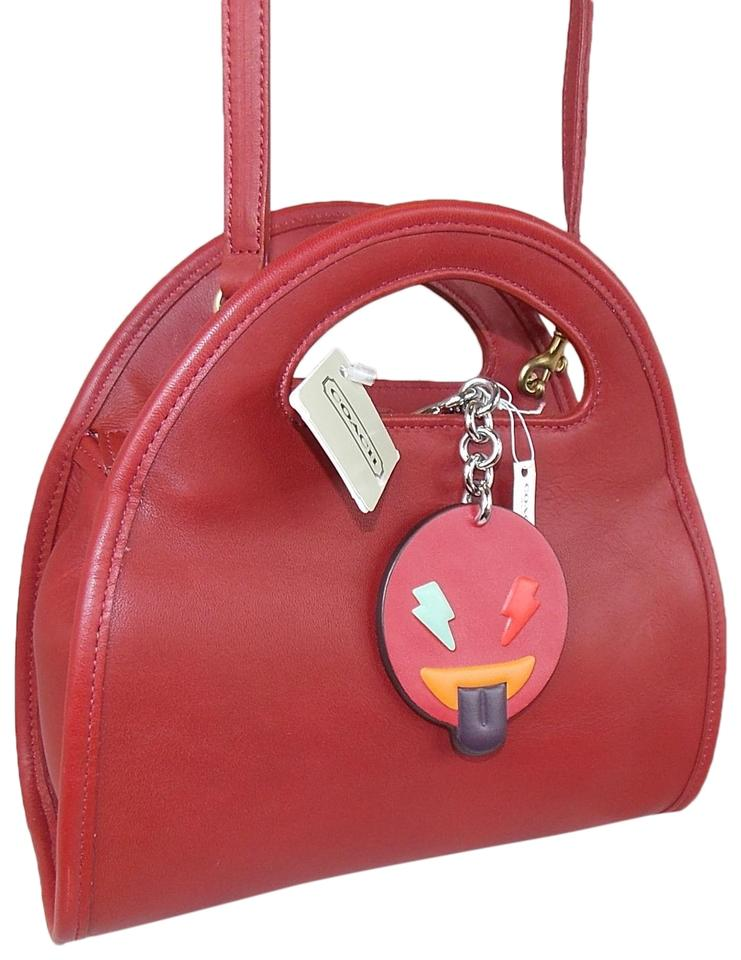 d9dd64a83ae Coach Vintage Carousel 9942 Brass Vintage with Emoji Red Leather ...