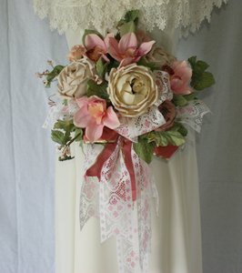 Garden and Pink Lace Silk Bouquet Other