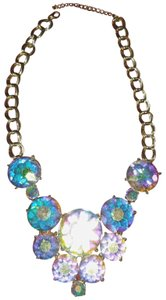 Betsey Johnson Largfe Multi Color Crystal Necklace