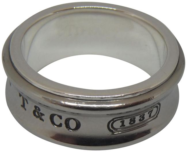 Item - Silver and Grey 1837 Sterling Galaxy Titanium Size 6.5 Ring