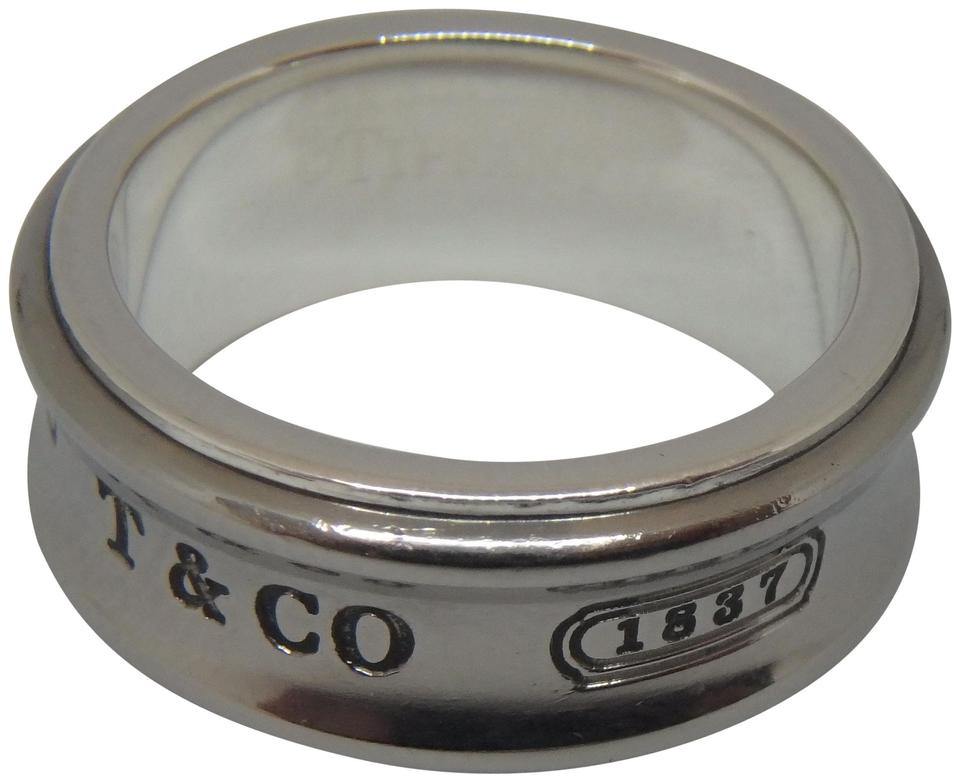 1bd5f0ef2 Tiffany & Co. 1837 Sterling Silver and grey Galaxy Titanium Ring Size 6.5  Image 0 ...