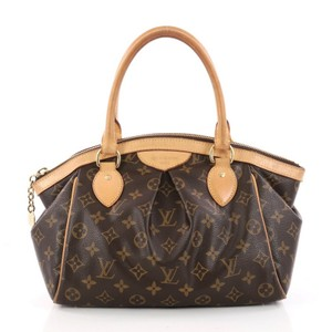 Louis Vuitton Canvas Brown Satchel in Monogram