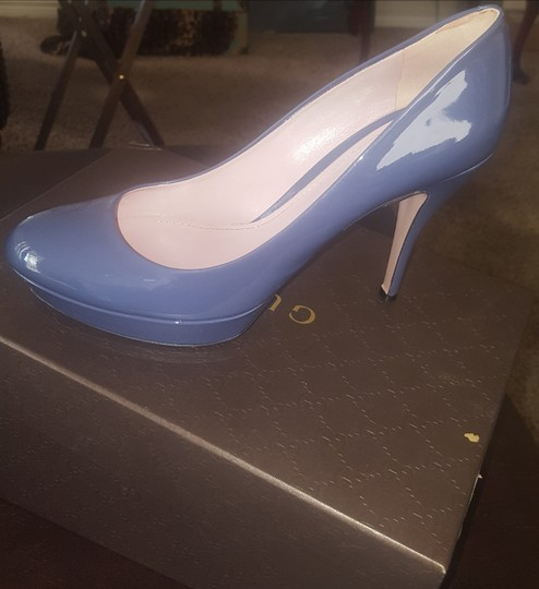 1d9e49b7f5b Gucci Uniform Blue Vernice Crystal Bnc00 4233 Pumps Size EU 40 ...