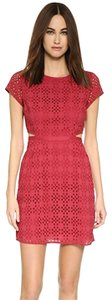 Madewell short dress Red Eyelet Side Cutout Jewel Neckline Crew Neckline New Without Tags on Tradesy