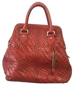 Cole Haan Leather Weave Baguette