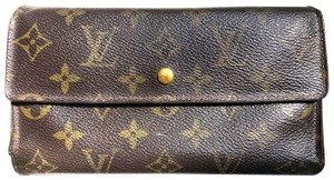 Louis Vuitton Brown Monogram International with 6 Card Slots Wallet With Box & Cards