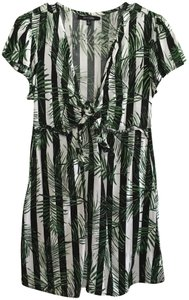 New Look short dress Black and White Palm Leaf Summer Stripes on Tradesy