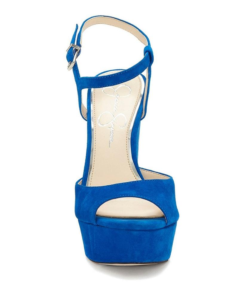 f7526bd4a47d Jessica Simpson Royal Blue Lorinna Suede Leather Platform Sandals ...