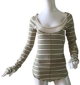 Free People Striped Nwot Large Thumb Holes Sweater