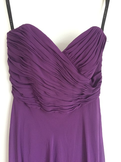 After Six Chiffon Purple Dress Image 2
