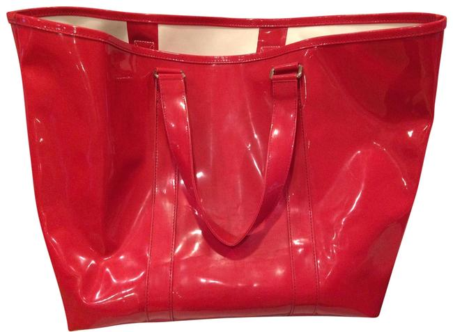 Item - Giant Tote/Beach Red Patent Leather Beach Bag