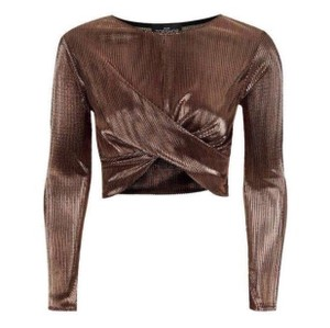 Topshop Top metallic
