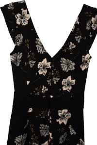 French Connection short dress Black/Floral on Tradesy