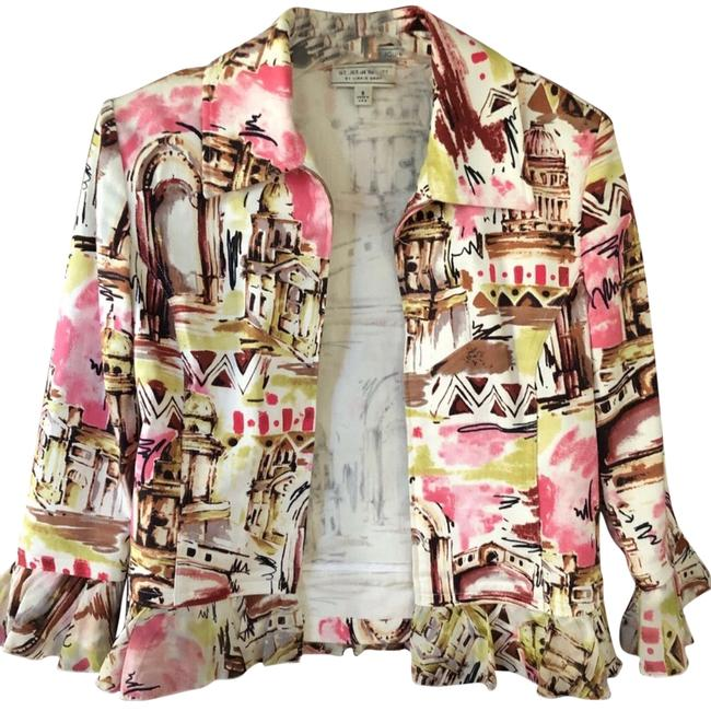 Item - Pink Cream Sport By Marie Grey Printed Jacket Size 4 (S)
