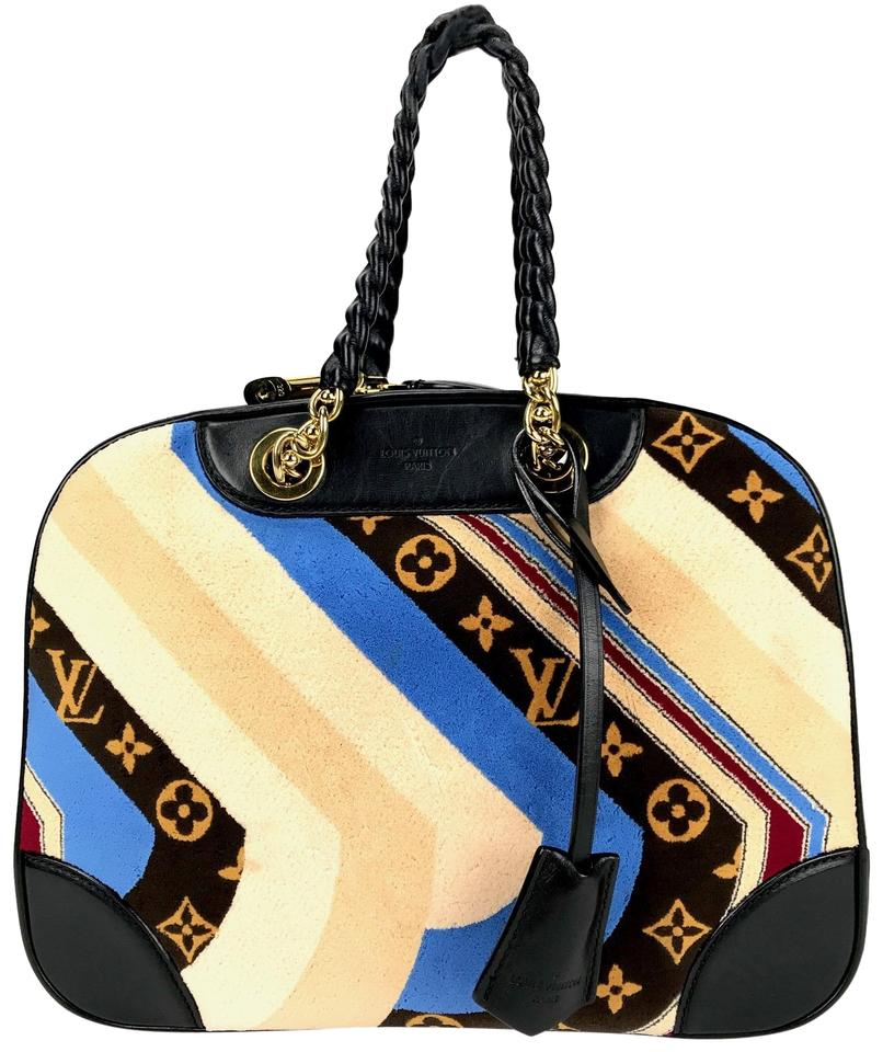 ad3e8fbc9 Louis Vuitton Bowling Vanity Tuffetage Multicolor Black/Multi Leather  Satchel