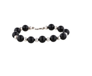 Tiffany & Co. Tiffany & Co. Onyx and Sterling Silver Bead Bracelet