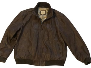 Jos. A. Bank Brown Leather Jacket