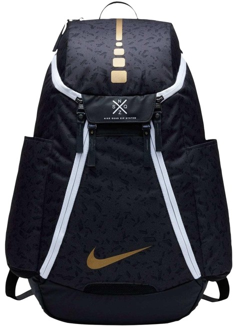 Item - Elite Max Air Team 2.0 Graphic Basketball Black/Gold Polyester Backpack