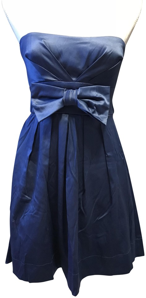672e3aa6cb84 Speechless Blue Strapless Tie Back Short Cocktail Dress Size 4 (S ...