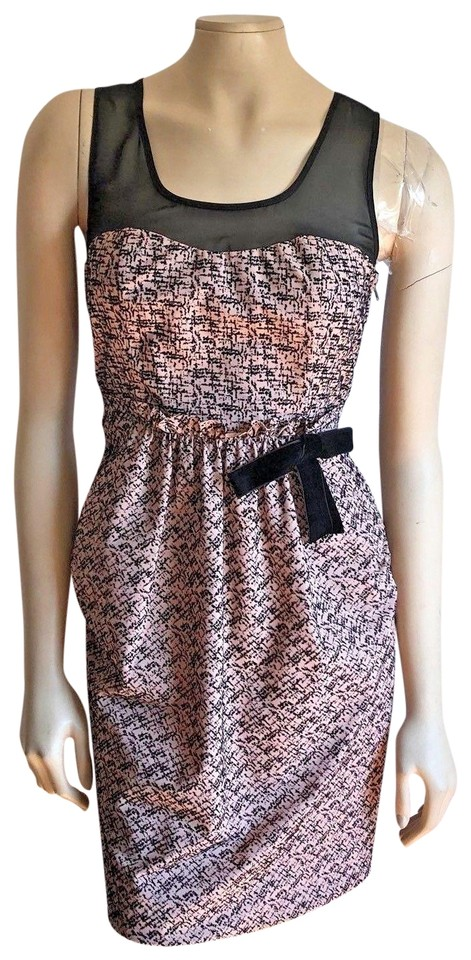 a27e1bc93213 Anthropologie Pink Moulinette Soeurs Albertine Velvet Flecked Sheer Yoke Casual  Dress