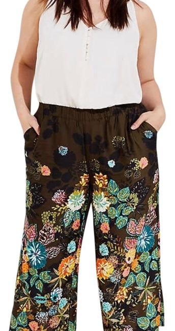 Item - Olive Green and Black Coral Springs Fluid Pants Size 24 (Plus 2x)