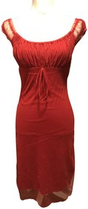 La Belle short dress Red with sparkles on Tradesy