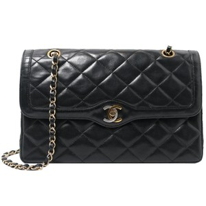 4e6961ec0d3b Added to Shopping Bag. Chanel Vintage Lambskin Limited Edition Shoulder Bag.  Chanel Double Flap Black Lambskin Leather ...