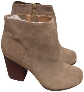 Jeffrey Campbell Suede Chunky Heel Light Tan Boots