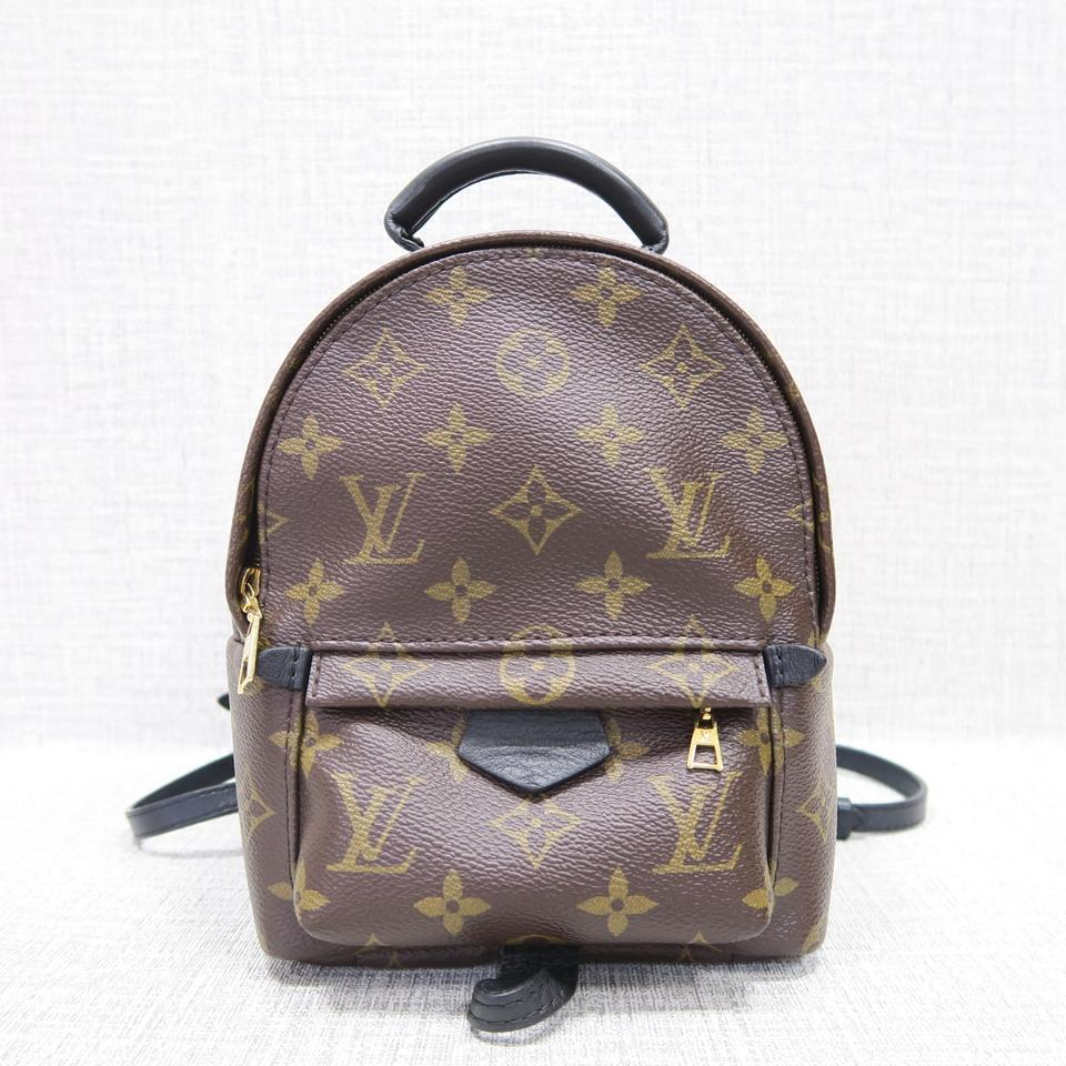 856580ebc9c4 Louis Vuitton Palm Springs Monogram Mini Brown Canvas Backpack - Tradesy