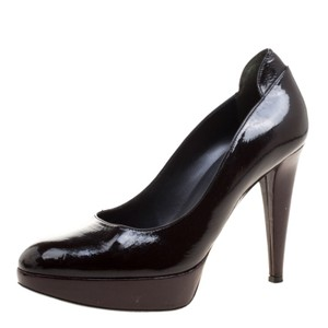 Sergio Rossi Patent Leather Brown Pumps