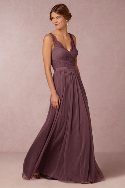 Item - Antique Orchid Nylon Tulle Lace; Polyester Lining Fleur Feminine Bridesmaid/Mob Dress Size 10 (M)