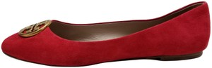 Tory Burch Red Suede Flats