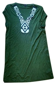Cha Cha Vente short dress Green Beaded on Tradesy