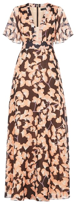 Item - Pink and Black Floral Anaelle [*new with Tags*] Long Casual Maxi Dress Size 00 (XXS)