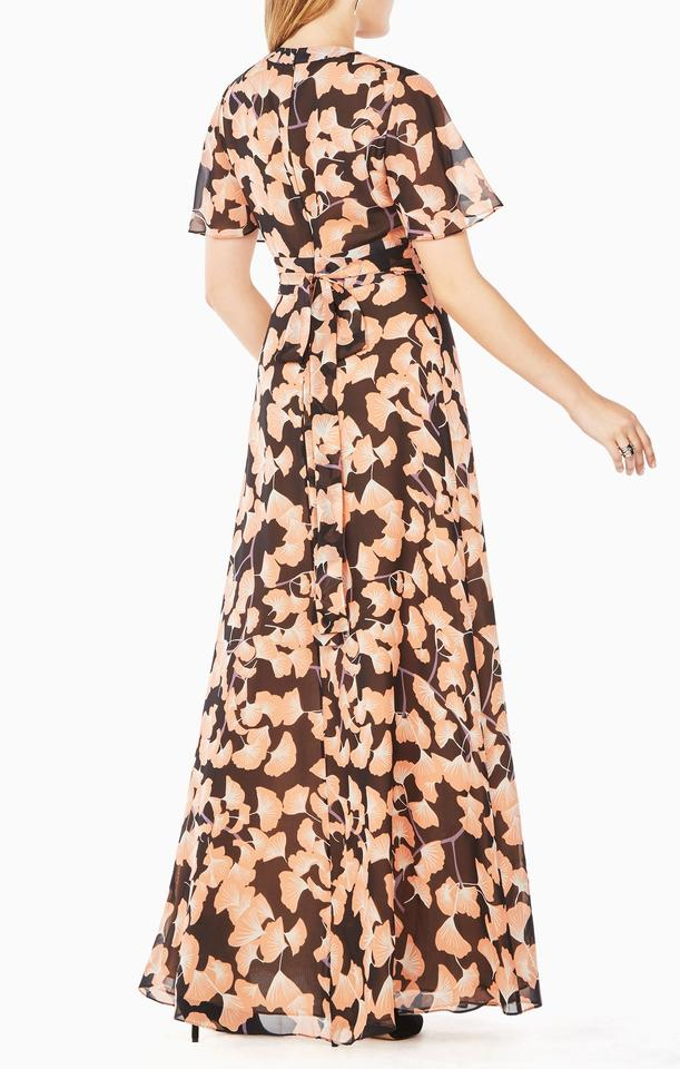 Maxi with BCBGMAXAZRIA Floral Black Tags Pink Dress Anaelle and new Casual 1CwTxpqaC