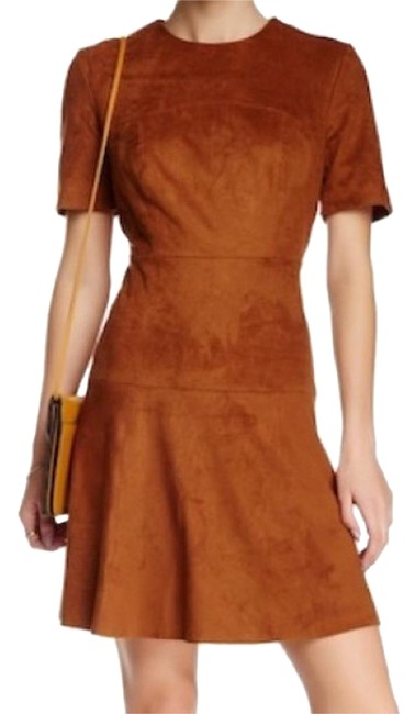 Preload https://img-static.tradesy.com/item/23573626/bagatelle-brown-faux-suede-fit-and-flare-mid-length-cocktail-dress-size-2-xs-0-1-650-650.jpg