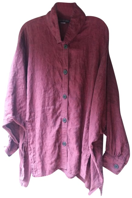 Item - Burgundy Button-down Top Size OS (one size)