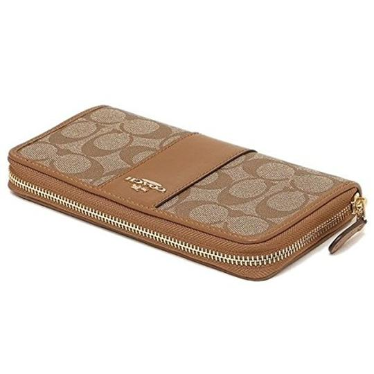 Coach Coach Signature PVC Accordion Zip Around Wallet