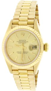 Rolex Rolex President Ladies Gold Champagne Index Dial 26MM 69178 Box&Papers