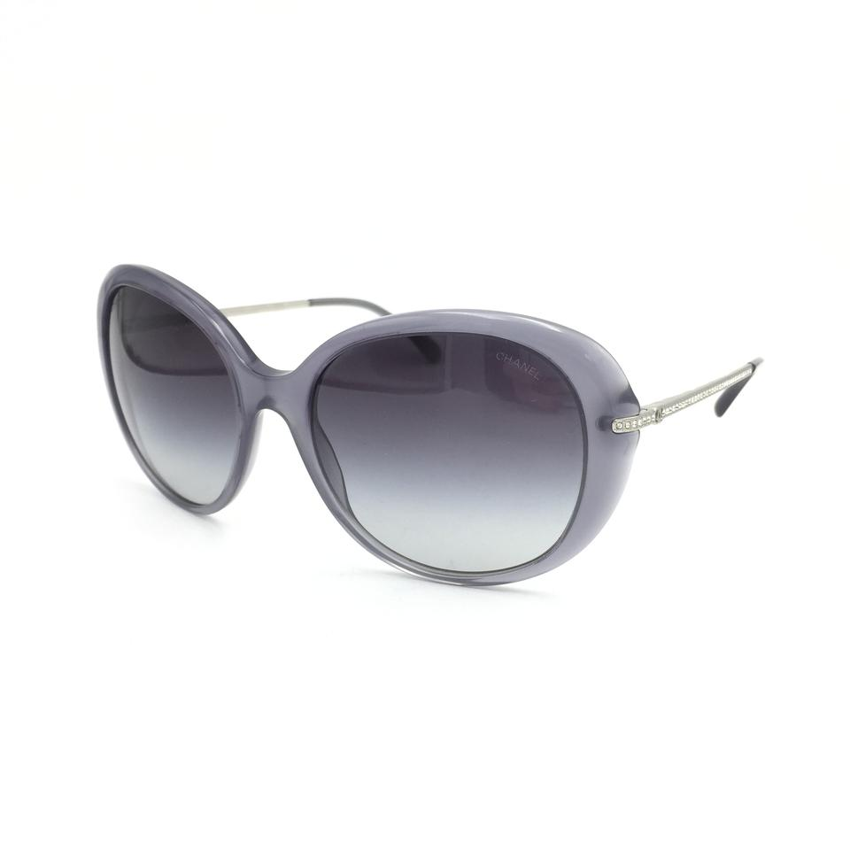 c04a7549e5bd Chanel Transparent Gray Silver Bijou Pearls Butterfly Gradient 5293 ...