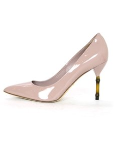 Gucci Heels Bamboo Patent nude Pumps