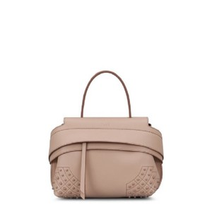 Tod's Chic Classic Leather Tote in Pale Pink/ Collant
